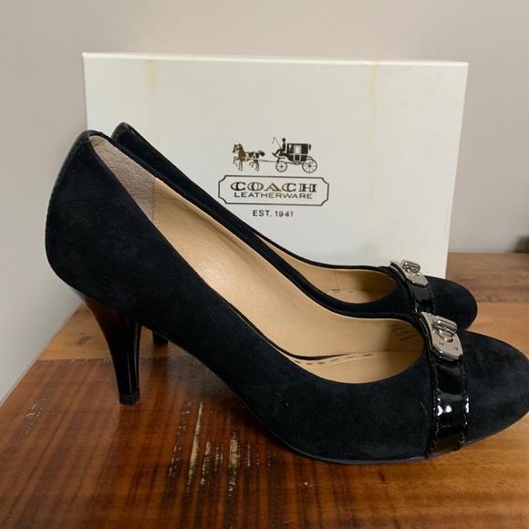 653fc426448 Coach heels pumps Wanda Brand NEW Leather & suede